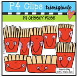 P4 CHEEKY French Fries (P4 Clips Trioriginals) FOOD CLIPART