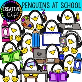 Penguins at School: Winter Clipart {Creative Clips Clipart}