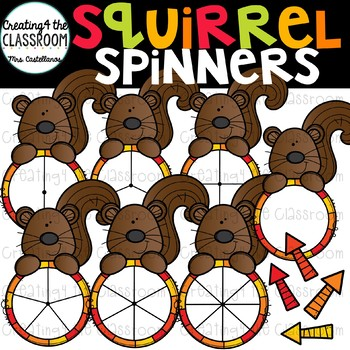 Fall Spinners Clip Art Bundle {Fall Clip Art}