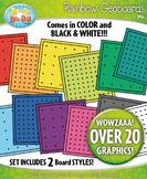 Rainbow Geoboards Clipart {Zip-A-Dee-Doo-Dah Designs}