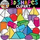 3D Shapes Clipart {Shapes Clipart}