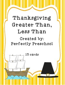 Thanksgiving Greater Than, Less Than
