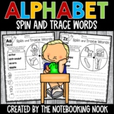 Alphabet Spin and Trace Words