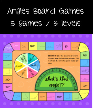 Angles Board Games - Differentiated Levels