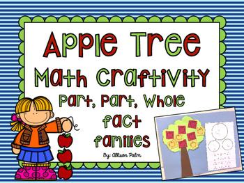 Apple Tree Math Craftivity {number bond fact families}