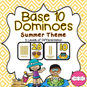 Base 10 Dominoes- Summer Theme
