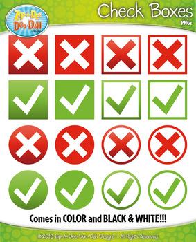 FREE Check Boxes & Circles Clipart {Zip-A-Dee-Doo-Dah Designs}