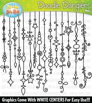 Doodle Danglers Clipart Set 2 {Zip-A-Dee-Doo-Dah Designs}