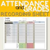 Editable Attendance Sheet with Gradebook Printable Template