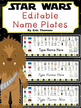 Editable Star Wars Name Plates