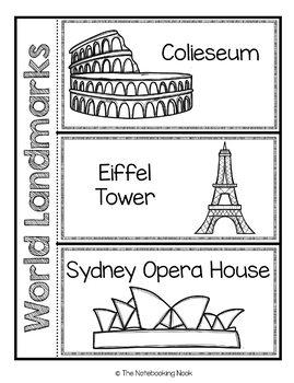 Famous World Landmarks Flap-Books