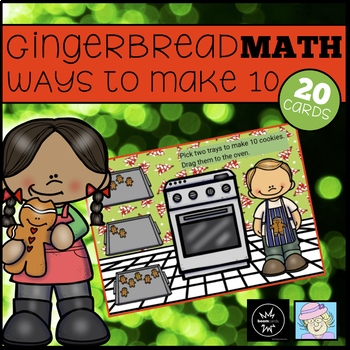 Gingerbread BOOM CARDS Making 10