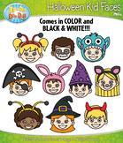 Halloween Kid Faces Clipart {Zip-A-Dee-Doo-Dah Designs}