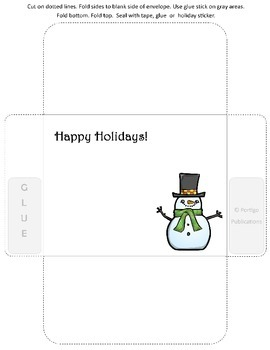 Holiday Cards, Envelopes, Homework Passes
