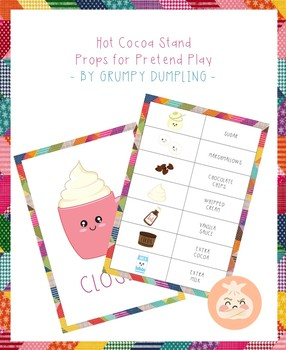 {FLASH FREEBIE} Hot Cocoa Stand - Props for Pretend Play