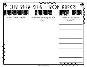 Mini-Unit Based on the Book ITTY BITTY KITTY by Joan Holub