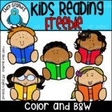 {FLASH FREEBIE} Kids Reading Clip Art Set