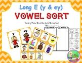 "Long E Word Sort ""y"" & ""ey"""