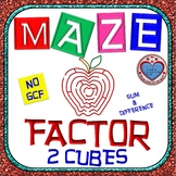 Maze - Factor Sum and Difference of Two Cubes - NO GCF