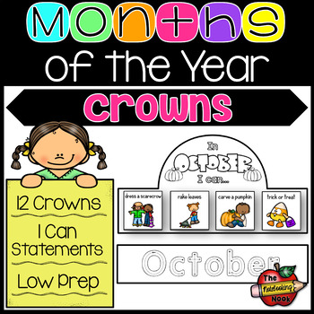 Months of the Year Crowns