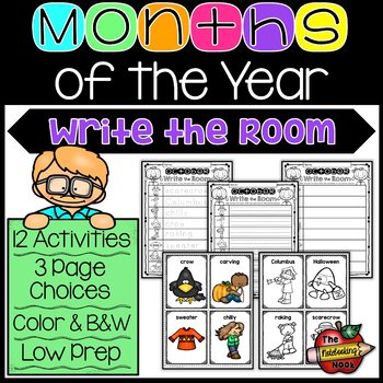 Months of the Year Write the Room