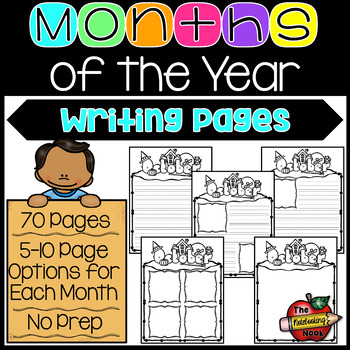 Months of the Year Writing Pages
