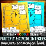 Multiplying and Dividing Integers Partner Scavenger Hunt -