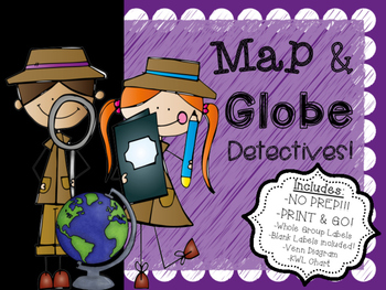 NO PREP!! JUST PRINT & GO! Maps & Globes