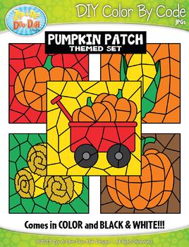 Pumpkin Patch Color By Code Clipart {Zip-A-Dee-Doo-Dah Designs}