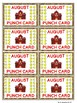 Punch Cards for the Whole YEAR!