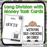 QR Code Task Cards for Long Division with Money
