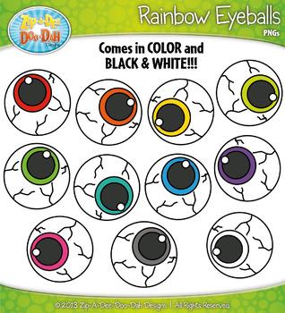 {FREE} Rainbow Eyeballs Clipart Set — Over 10 Graphics!