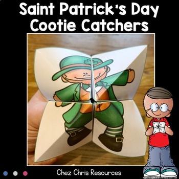 Saint Patrick's Day cootie catchers - Fortune tellers