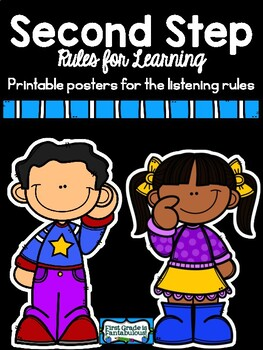 Second Step Listening Rules Posters
