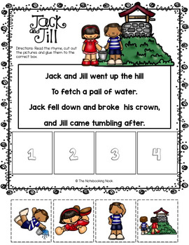 Sequencing with Nursery Rhymes