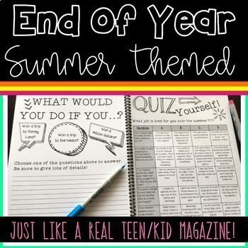 Summer Magazine for Upper Grades