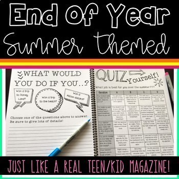 *Summer Magazine for Upper Grades