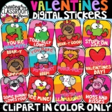 Valentines Digital Stickers Clipart- {Valentines Day Stickers}