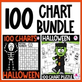 100 Charts Worksheets Halloween BUNDLE | 100 Chart Activities