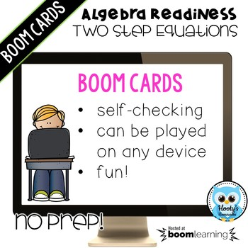 Algebra Readiness: Two Step Equations Digital Task Cards