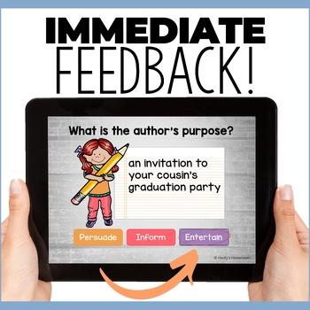 Author's Purpose Digital Task Cards - Boom Cards