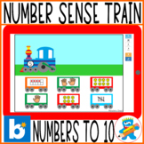 Boom Cards Number Sense Train. Numbers to 10 Interactive G