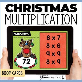 Christmas Multiplication Fluency Digital Task Cards