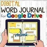 Editable digital WORD JOURNAL /vocabulary notebook - Google Slides