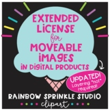 Extended License for Moveable Images in Digital Products