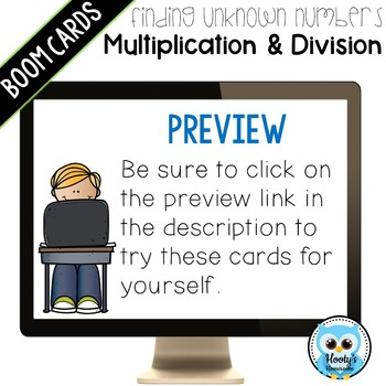 Finding Unknown Numbers: Multiplication & Division Task Cards