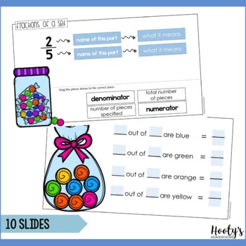 Fractions of a Set Paperless Practice for Google Apps