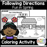 Fun in Spring Following Directions Coloring Set