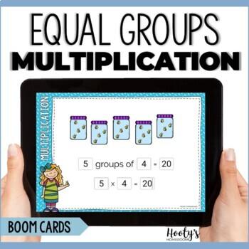 Groups Of Multiliplication - Digital Task Cards