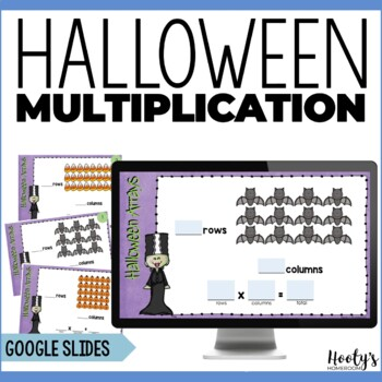 Halloween Arrays Digital Task Cards for Google Apps